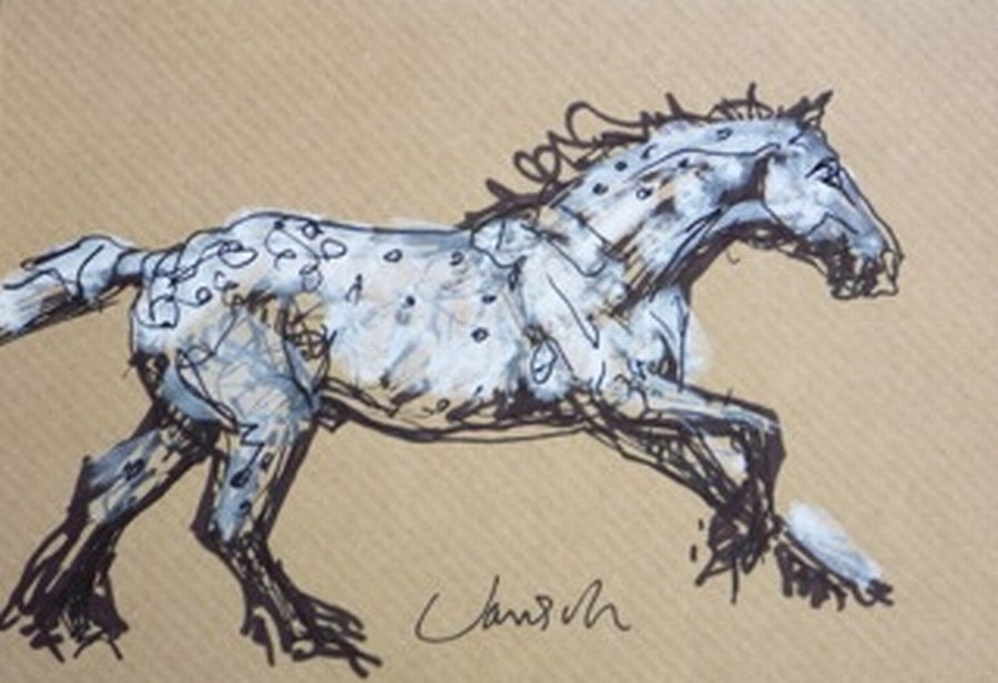 Heather Jansch, Grayling 2014, Ink on Acid Free Paper