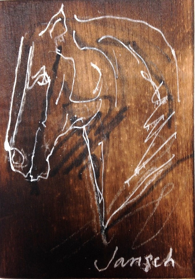 Heather Jansch, Nobleman Burnt Wood Drawing