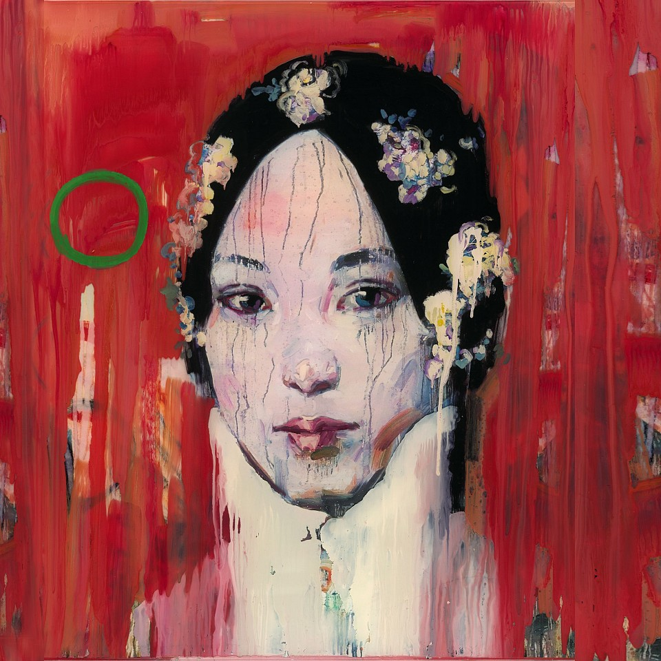 Hung Liu, Red Wash Edition Mixed Media