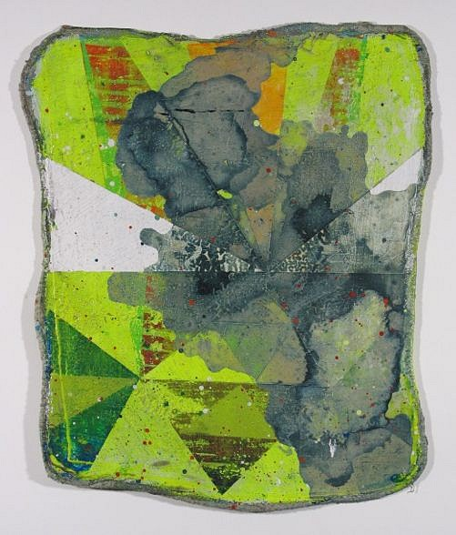 Jason Rohlf, Retest 2014, Acrylic on Shop Rag