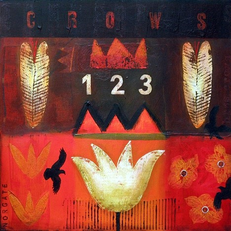 Sheila Norgate, Crows Acrylic on Canvas