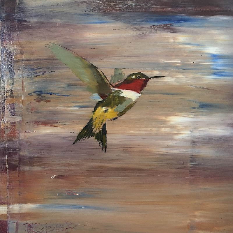 Douglas Schneider, Hummingbird 1 2015, Oil on Panel