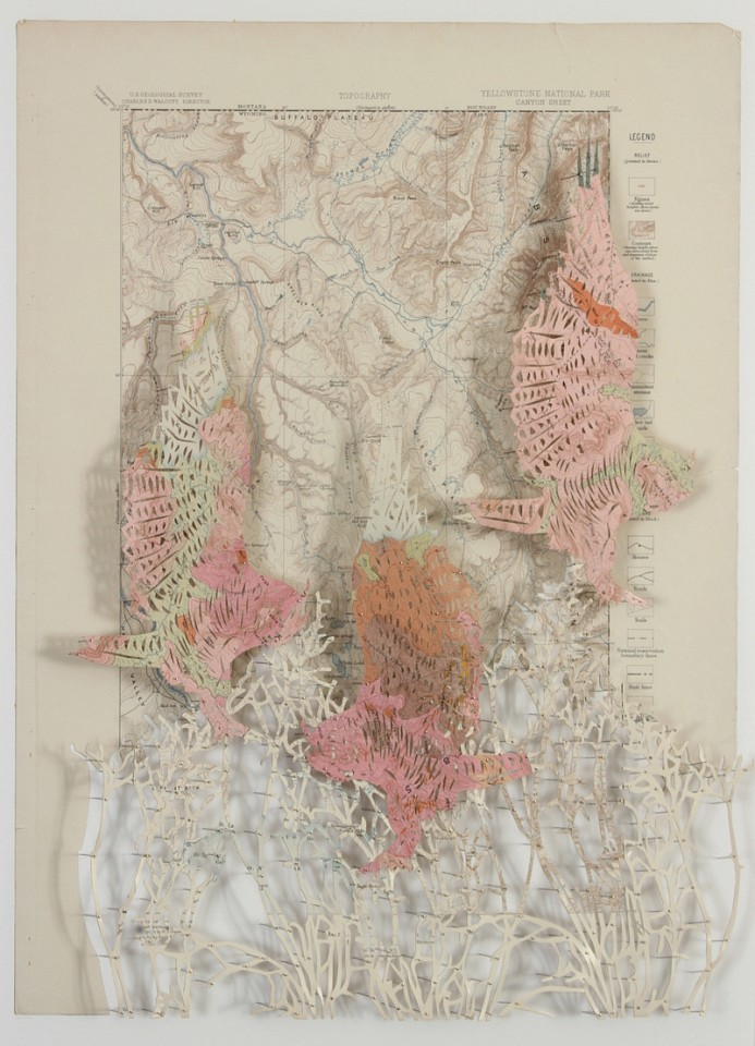 Claire Brewster, In the Pink 2016, Geological Atlas of the United States, Yellowstone National Park