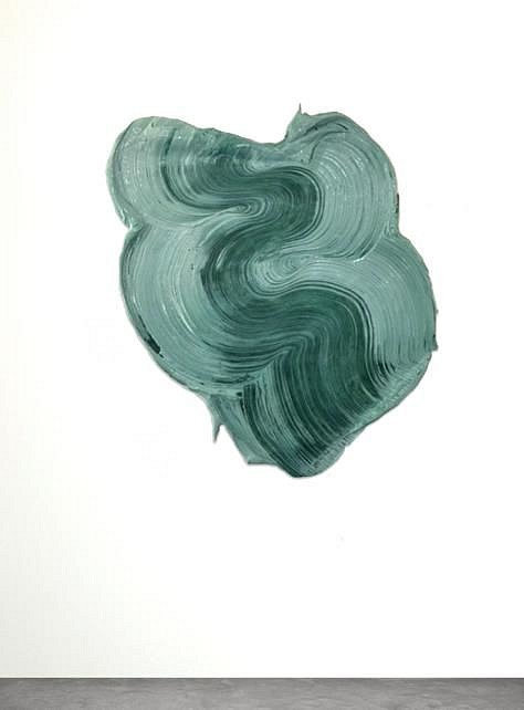 Donald Martiny, Orne Polymer and Pigment Mounted on Aluminum