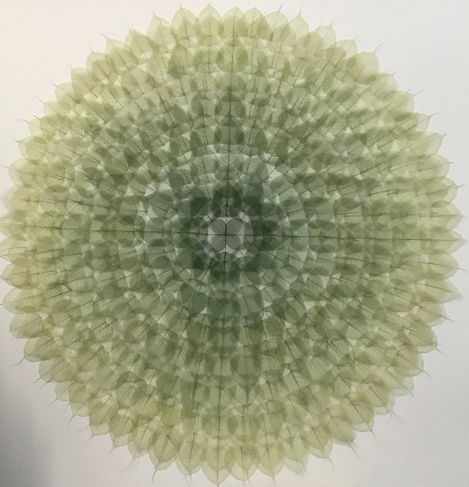 Miya Ando, Green Mandala 2017, Mixed Media