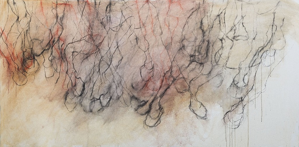 Helen Durant, Echoes of Power 2018, Acrylic and Charcoal on Canvas