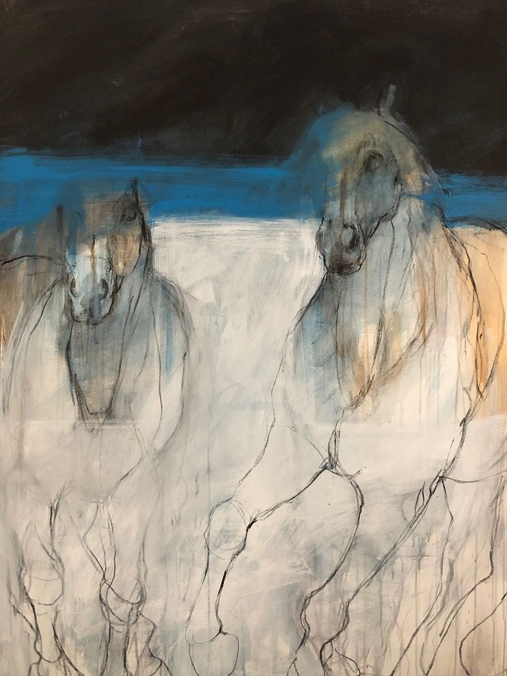 Helen Durant, Nighttime Blues Acrylic and Charcoal on Canvas