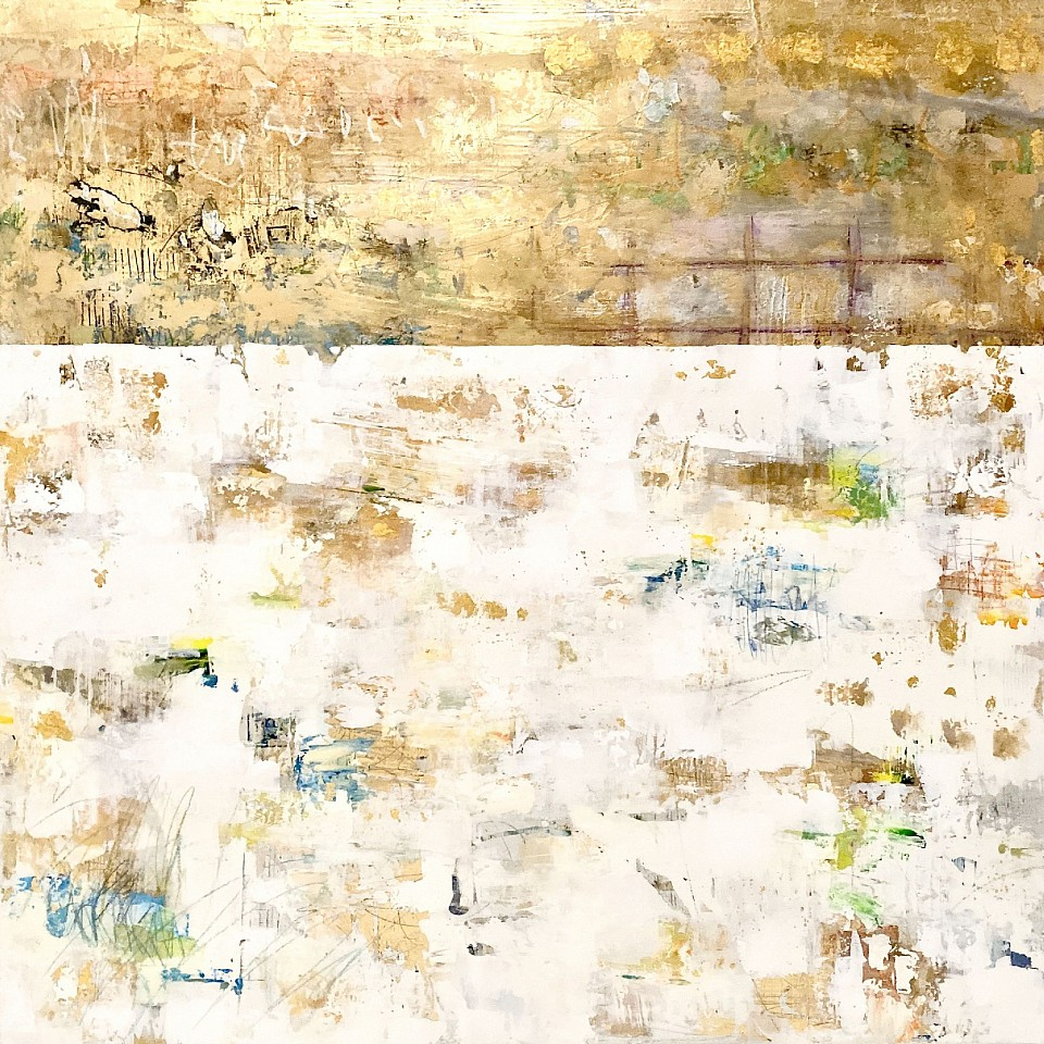 Takefumi Hori, Gold and Color No. 67 Acrylic, gold leaf and metal leaf on canvas