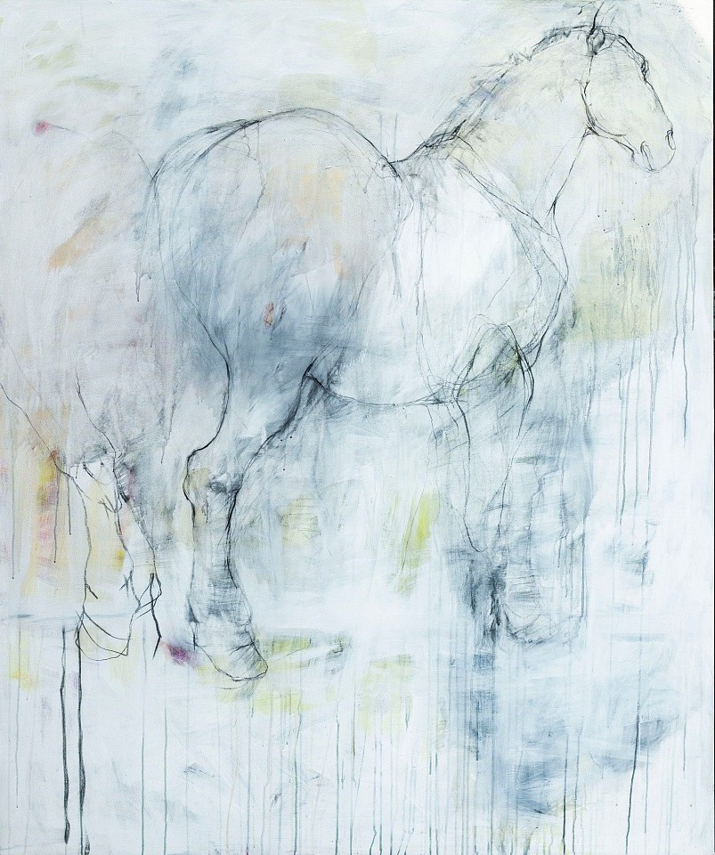 Helen Durant, If I Were A Horse Charcoal and Acrylic on Canvas