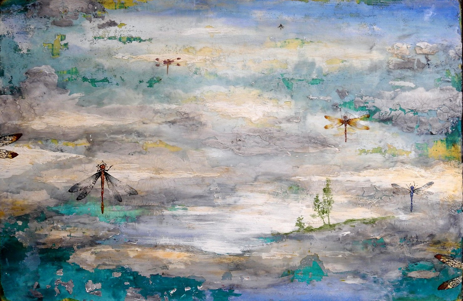 Chris Reilly, Elysium 2019, Encaustic & Mixed Media on Panel